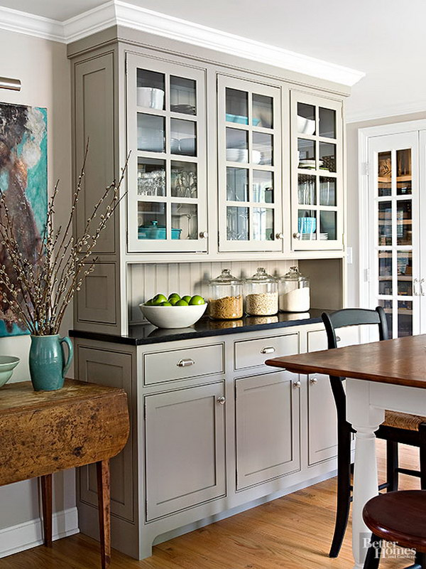 Cool Kitchen Cabinet Paint Color Ideas - Light gray cabinet paint