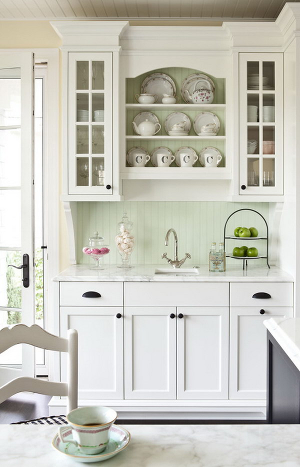 80 cool kitchen cabinet paint color ideas for Brushed sage kitchen cabinets