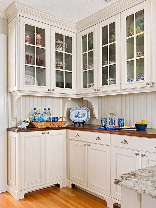 80 cool kitchen cabinet paint color ideas for Spraying kitchen cabinets white