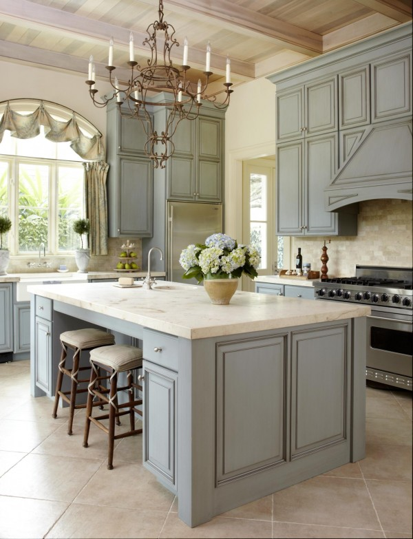 Dusty Gray Inspired Kitchen Cabinets. Beautiful Paint ...