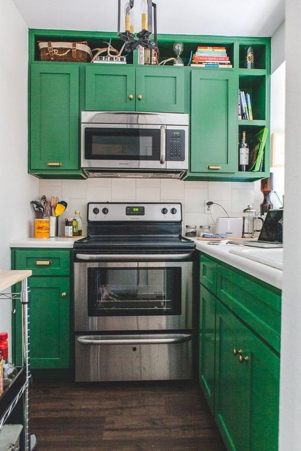 crisp green kitchen cabinets - Green Kitchen Cabinets