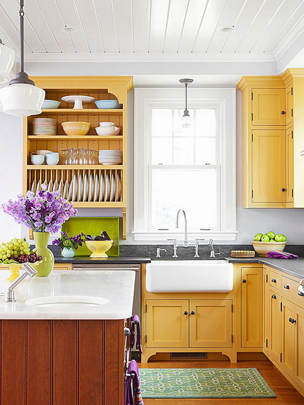 Kitchen yellow paint colors