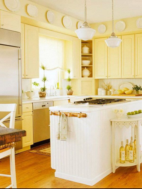 Butter Yellow Kitchen Cabinets