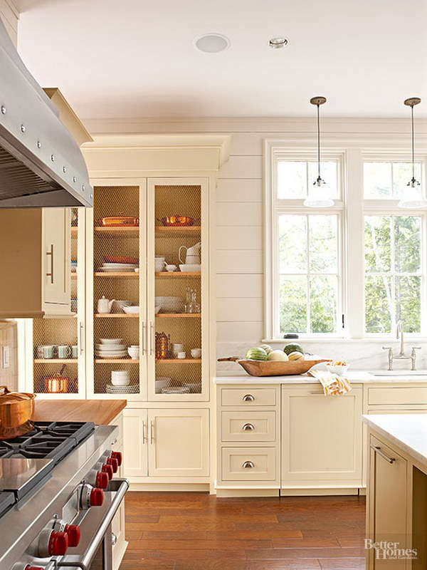 Soft Yellow Kitchen Cabinets.