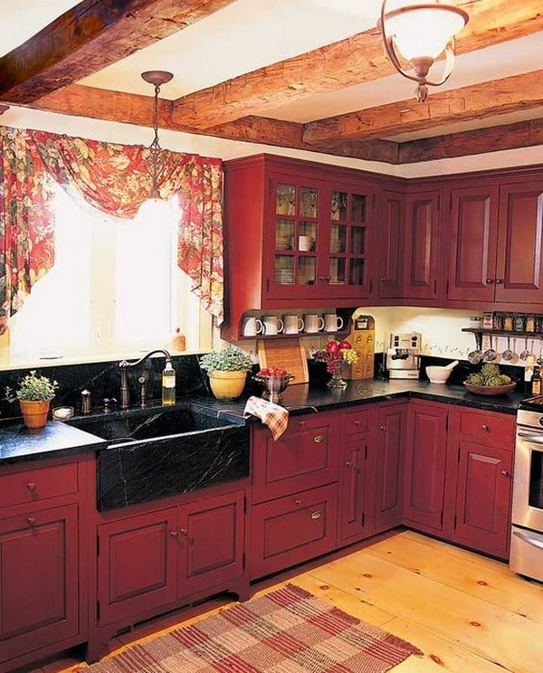 Impressive Ideas Kitchen Paint Colors With Maple Cabinets: 80+ Cool Kitchen Cabinet Paint Color Ideas