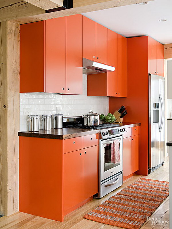 80 cool kitchen cabinet paint color ideas - Cheerful bright kitchen color ideas for sleek interior layout ...