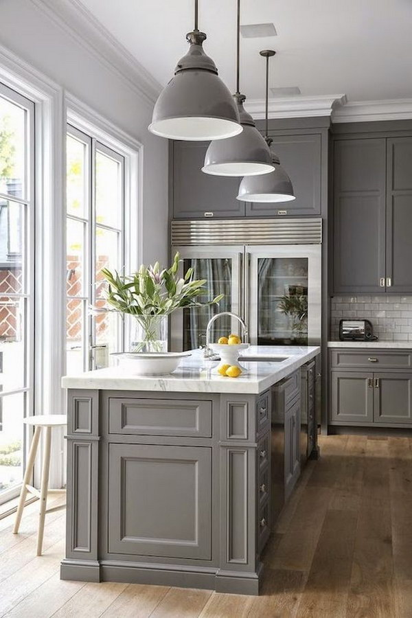 Cool Kitchen Cabinet Paint Color Ideas - Wall color with grey kitchen cabinets