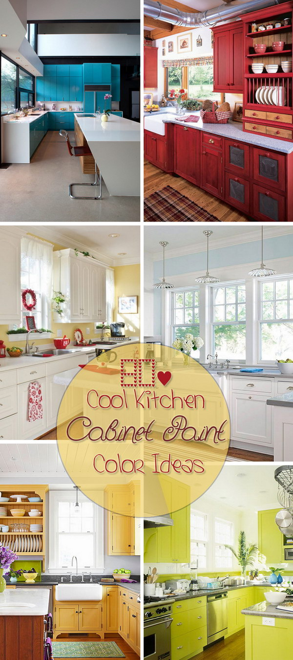 Lots of Cool Kitchen Cabinet Paint Color Ideas!