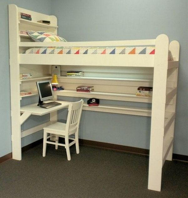 Loft Beds with desk to save room space