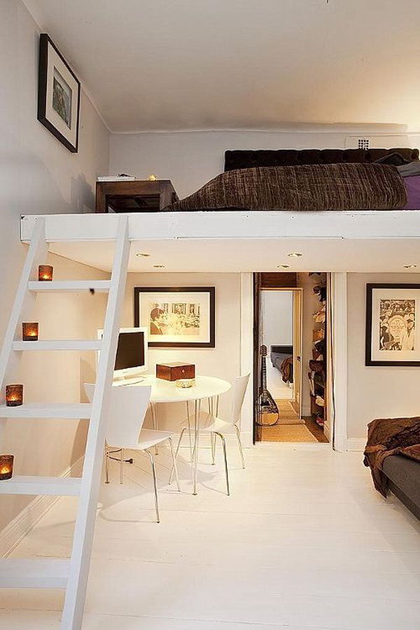 Ideas For Small Rooms Part - 16: Cozy Loft Bed Decor Ideas