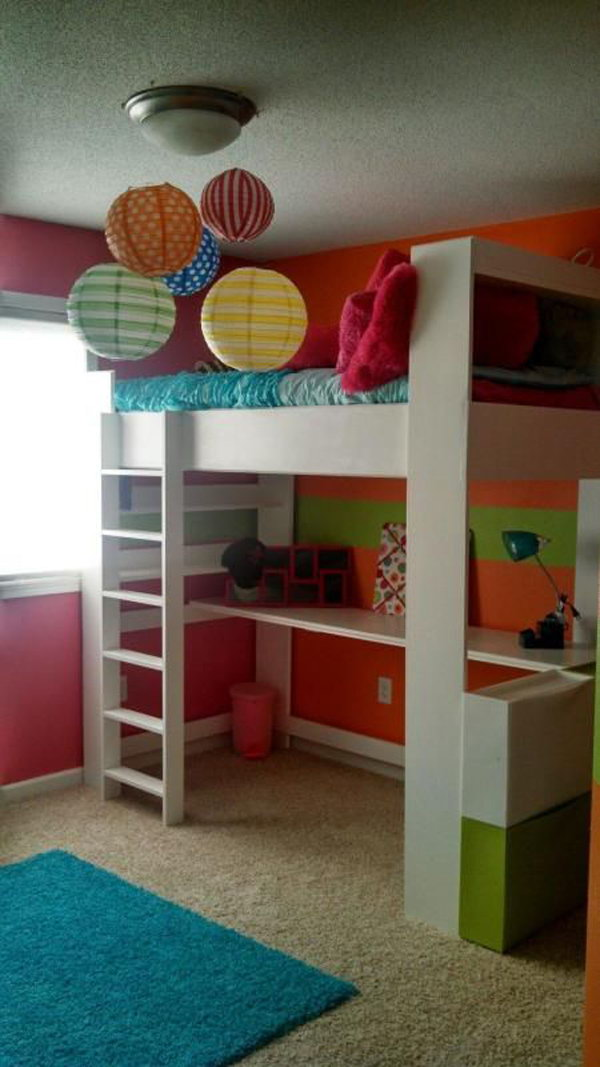 Colorful Loft Beds Design