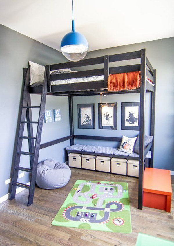 30 cool loft beds for small rooms - Space saving ideas for small kids bedrooms plan ...
