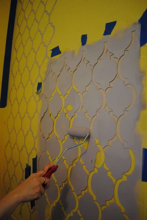 Stenciled Moroccan Wall.