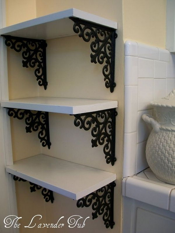 DIY Elegant Shelves for Display.