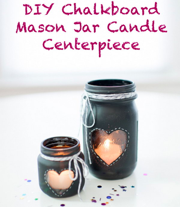 The Chalkboard Mason Jar Centerpiece.