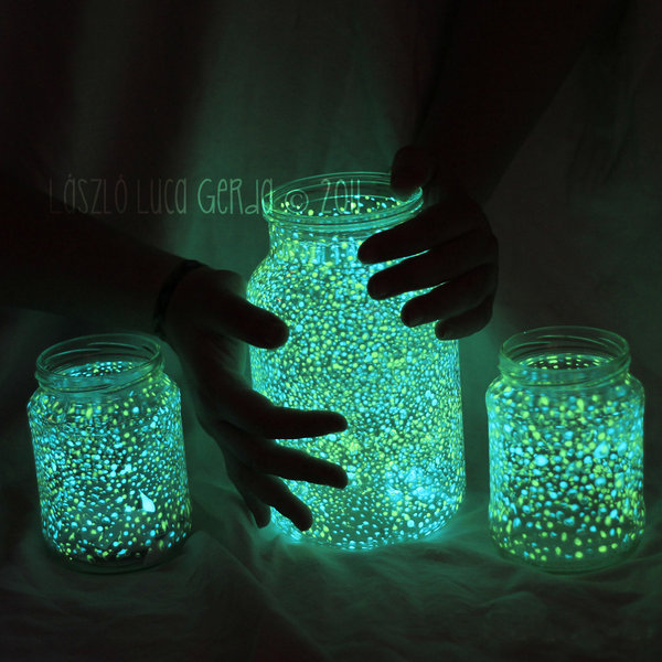 Glowing Mason Jar.