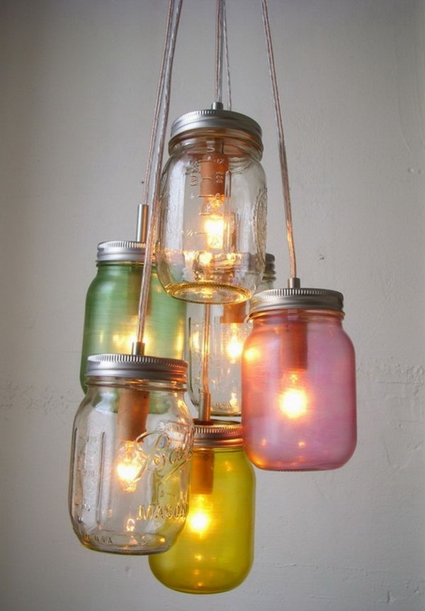 Mason Jar Light Cluster.