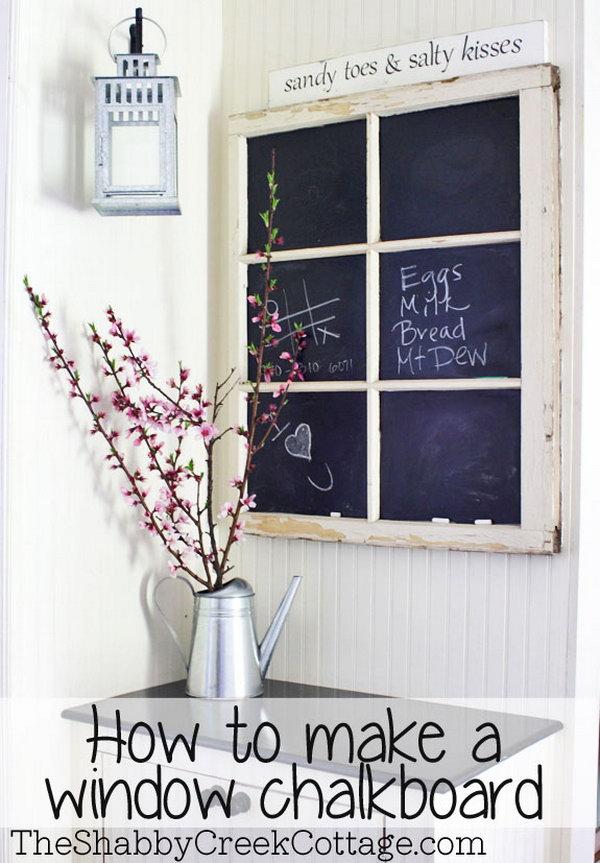 A Fancy Window Chalkboard!
