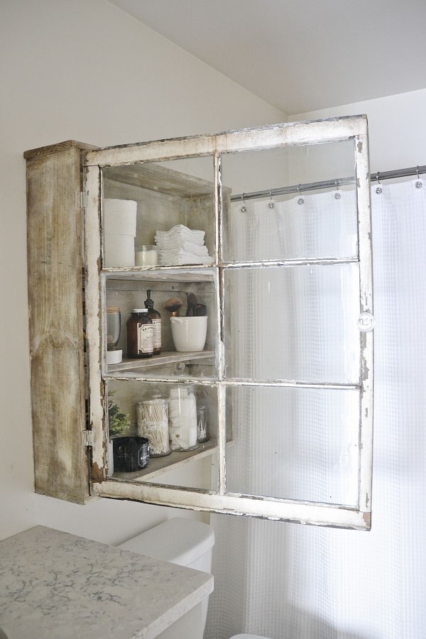 DIY Window Cabinet.
