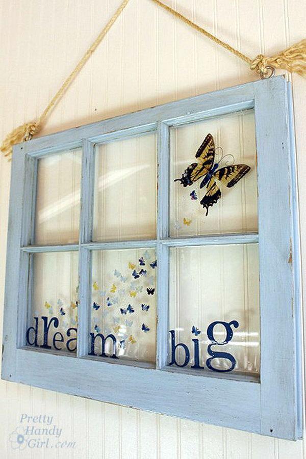 Creative Butterfly Window.