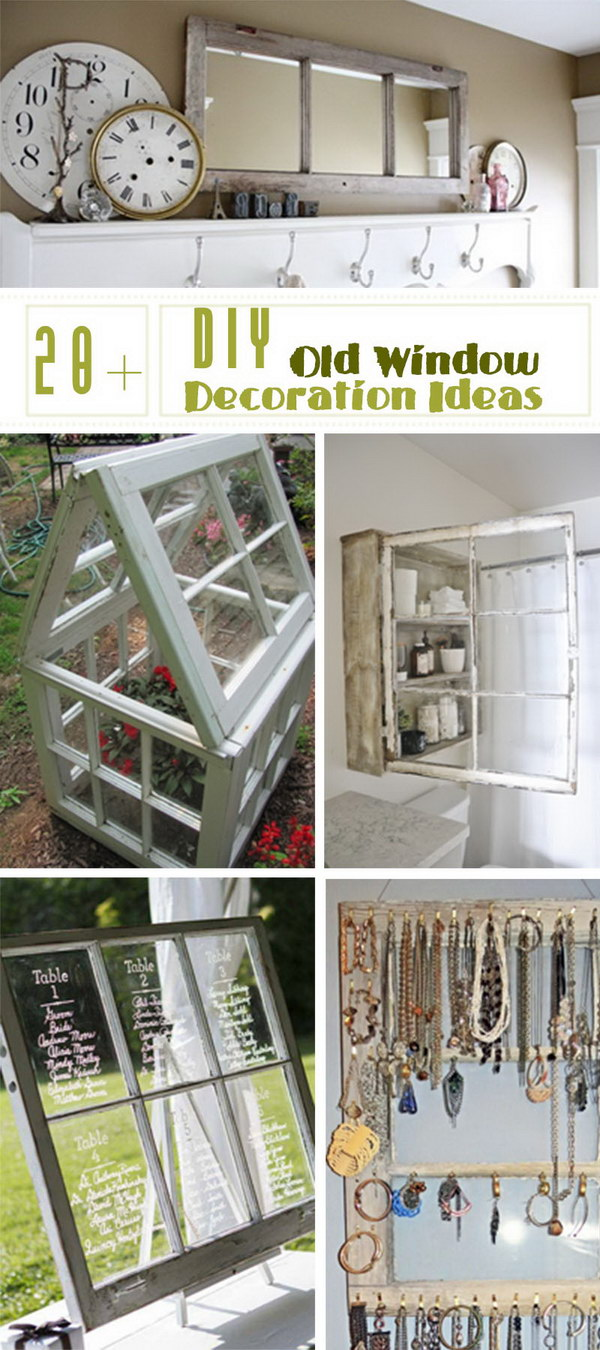 Window Decoration 20 Diy Old Window Decoration Ideas