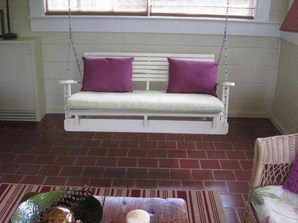 DIY Pallet Swing Chair. See more details