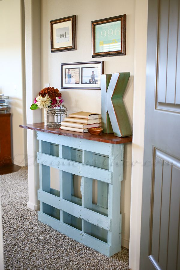 Beautiful Pallet Console Table For Not So Wide Entry
