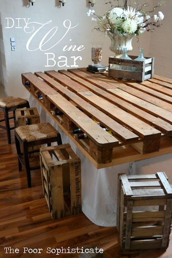 40 creative diy pallet furniture project ideas tutorials for Homemade furniture instructions