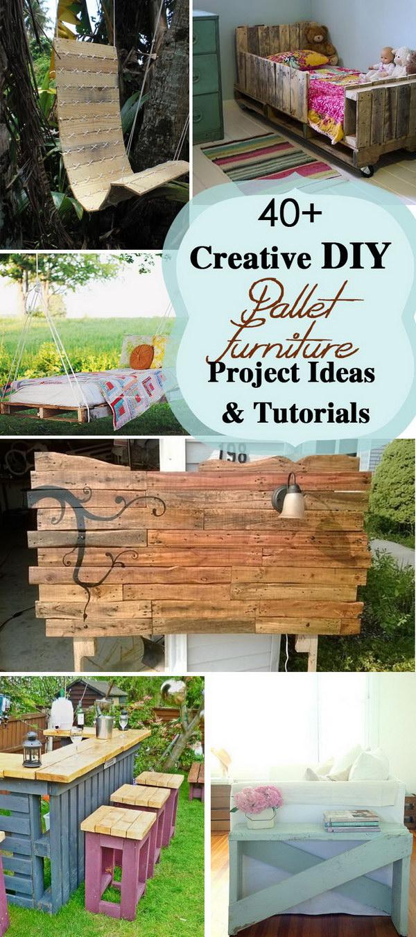 40 Creative Diy Pallet Furniture Project Ideas Amp Tutorials