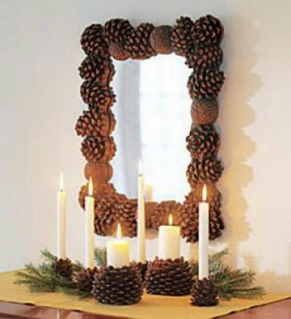 30 beautiful pinecone decorating ideas tutorials for holiday - Ideas para decorar mi bano ...