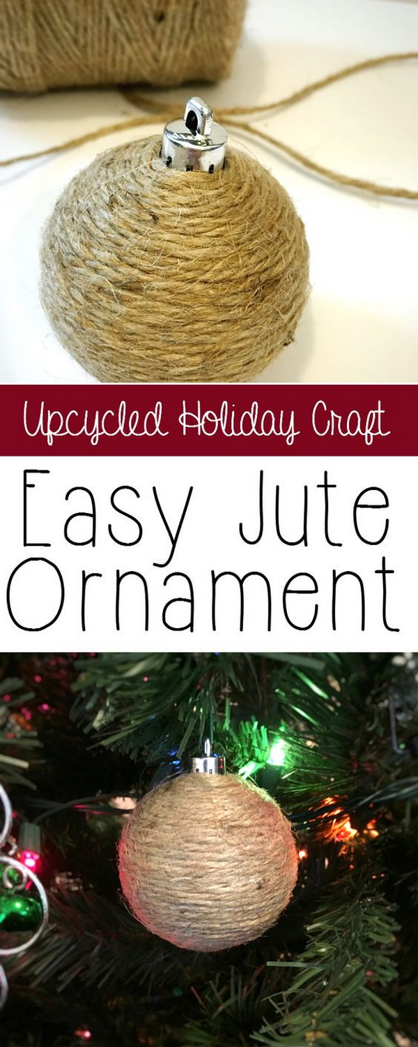 Revamp Your Christmas Decor With Beautiful, Rustic Homemade Jute Ornaments.