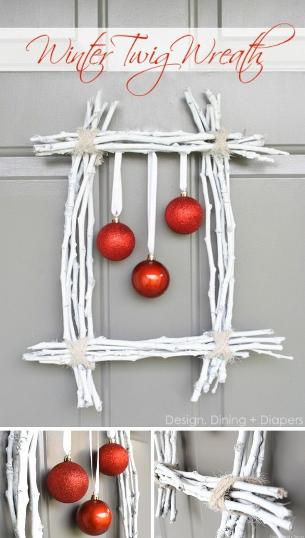 Wall Decoration Ideas With Ribbons : Awesome rustic christmas decorations