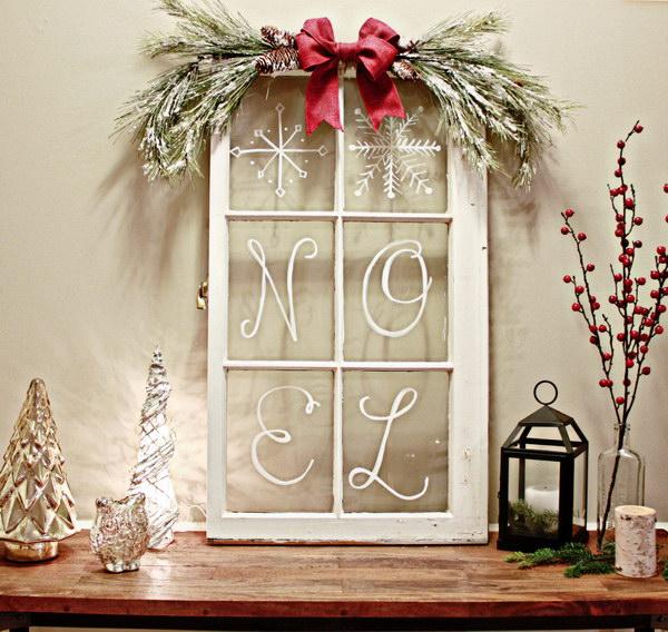 Christmas Windowpane Decoration.