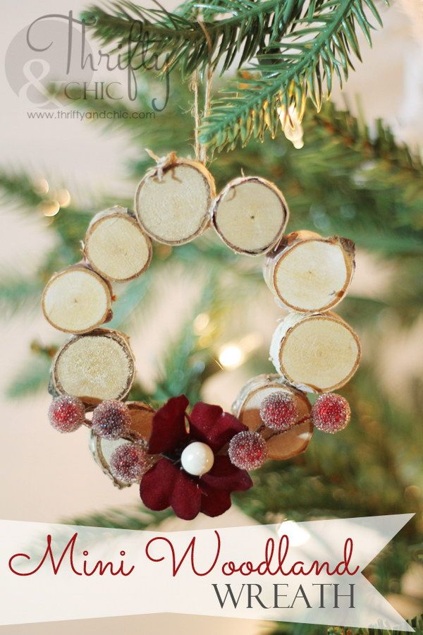 Mini Woodland Wreath Ornament.