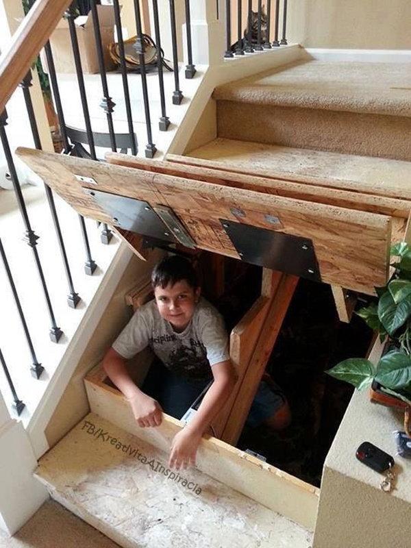 Under Stair Secret Rooms