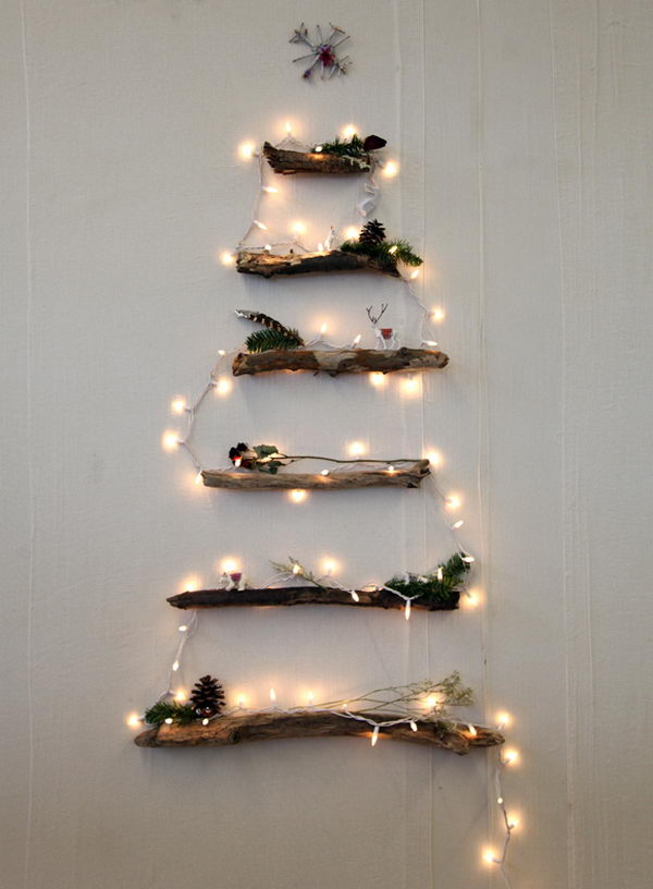 DIY Twig Christmas Tree. See the steps