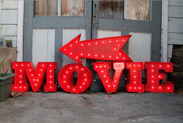 DIY Vintage Marquee Sign.