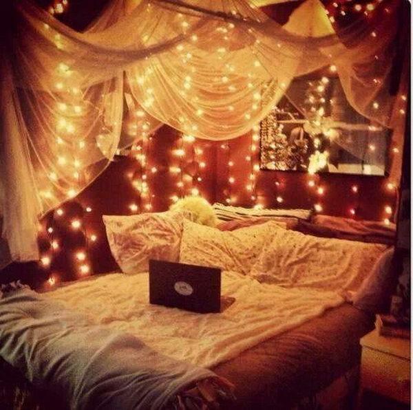 Canopy And Lights For Good Sleep Sweet Dreams