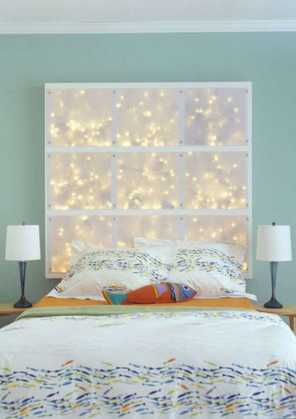 DIY Headboard With LEDs.