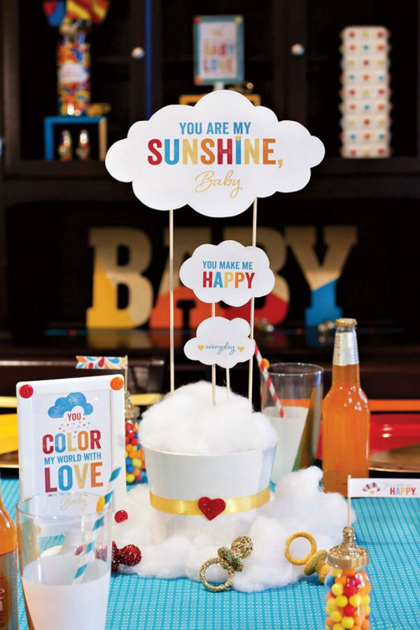 Rainbow Baby Shower Theme.