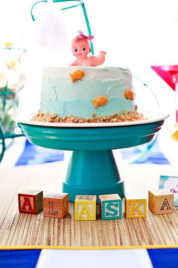 Beach Baby Cake.