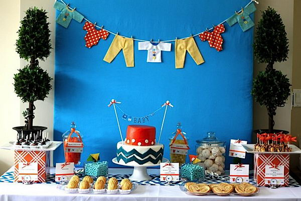 Modern Chevron Baby Shower.