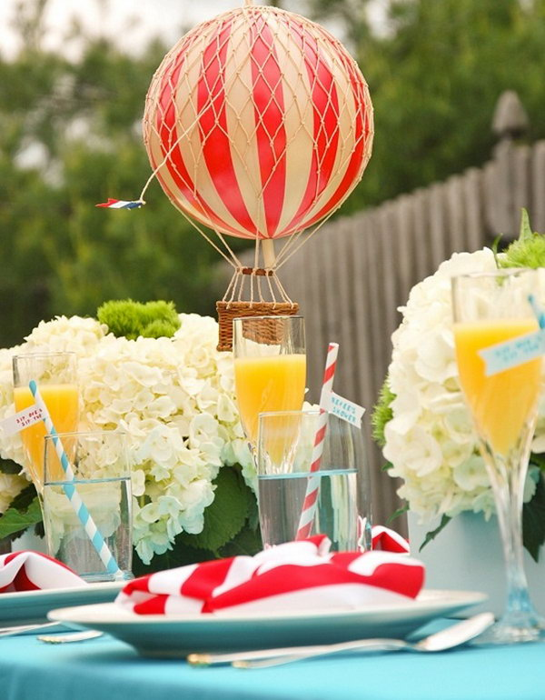 Hot Air Balloon Centerpiece.
