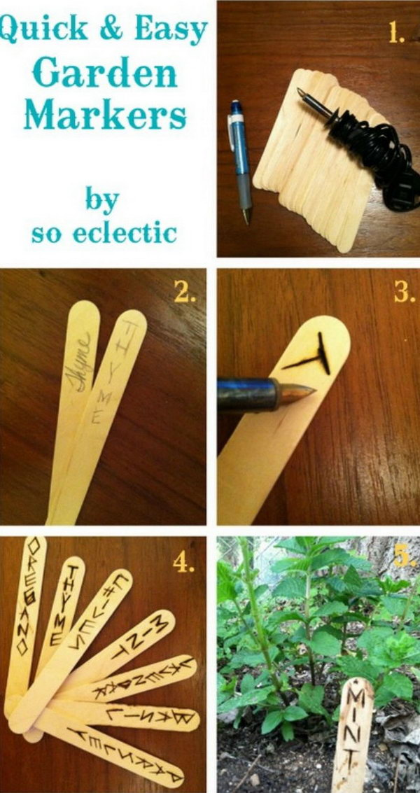 Quick And Easy Garden Markers