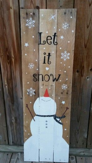 let it snow pallet sign - Christmas Pallet Signs