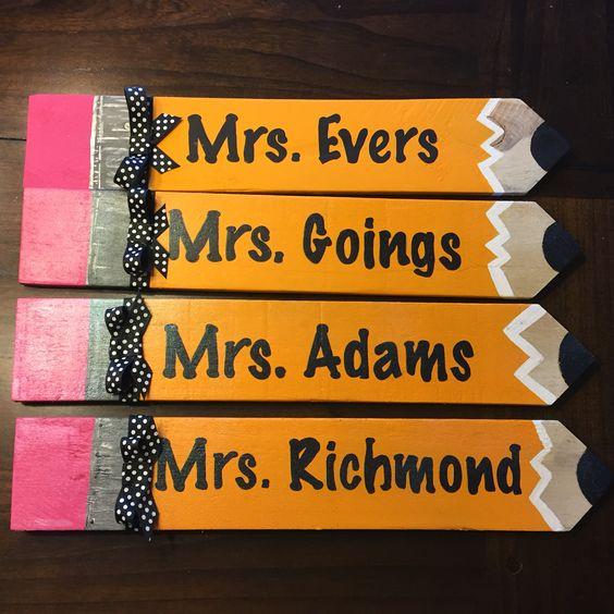 Pallet Pencils for Teacher Gifts.