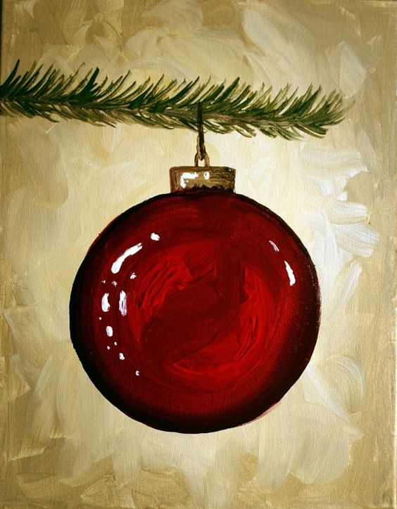 20+ Stunning Christmas Canvas Paintings