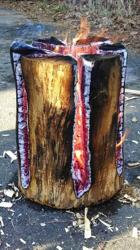 how to make pyre logs