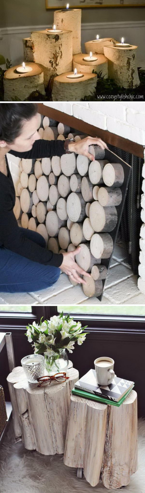 Cool Tree Stump and Log DIY Projects.