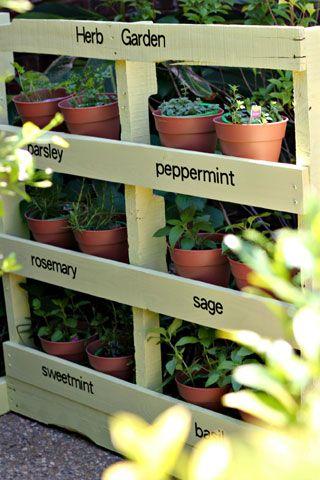 Make an Herb Garden from a Pallet.